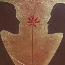 Eros // Technique mixte et collage sur toile // 50 x 70 cm