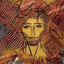 Art // Peinture // Hybride // Melting Pop // Golden Face // © Aurélie Bellon