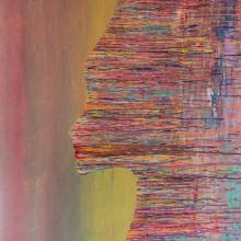 L'Aube s'éclipse // Technique mixte sur toile // 89 x 116 cm