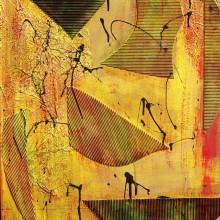 Dialogue 7 // Technique mixte et collage sur bois // 50 x 60 cm