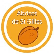 Conception graphique de l'étiquette du parfum Abricot des biscuits Saint Louis de Lafitau