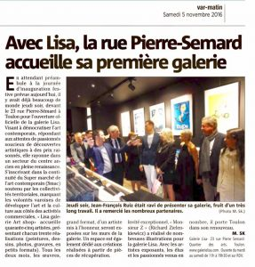 Expo Galerie Lisa Toulon