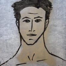 SpéciMEN 25 // Technique mixte sur carton bois // 50 x 70 cm
