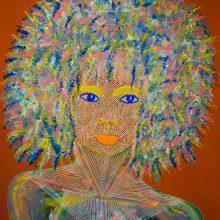 Amazones 07 // Acrylique sur carton bois // 50 x 70 cm