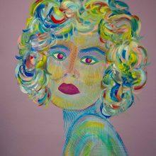 Amazones 02 // Acrylique sur carton bois // 50 x 70 cm