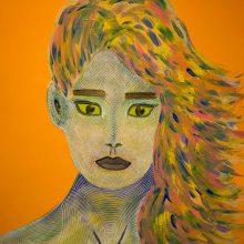 Amazones 06 // Acrylique sur carton bois // 50 x 70 cm