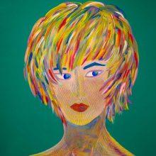 Amazones 09 // Acrylique sur carton bois // 50 x 70 cm