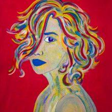 Amazones 04 // Acrylique sur carton bois // 50 x 70 cm