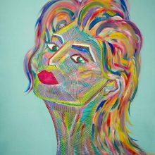 Amazones 01 // Acrylique sur carton bois // 50 x 70 cm
