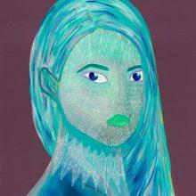 Amazones 14 - Elsa // Acrylique sur carton bois // 50 x 70 cm