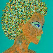 Amazones 15 // Acrylique sur carton bois // 50 x 70 cm