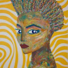 Big blue Eyes // Acrylique sur toile // 100 x 146 cm