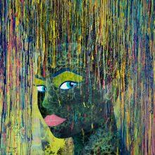 Danaé // Technique mixte sur toile // 73 x 92 cm