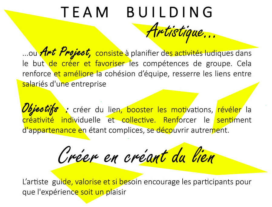 Atelier team building - Art project en entreprise // © Aurélie Bellon