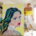 Lady Blabla // Technique mixte sur toile // 100 x 146 cm