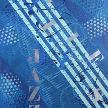Blue Jazz // technique mixte sur bois // 60 x 80 cm
