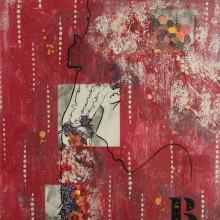 Bacchus //Technique mixte sur toile // 54 x 65 cm