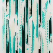 GRRAME 01 // Technique mixte et collage sur bois // 102 x 40 cm