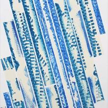GRRAME 02 // Technique mixte et collage sur bois // 102 x 40 cm