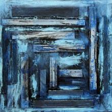 GRRAME 03 // Technique mixte et collage sur bois // 40 x 40 cm