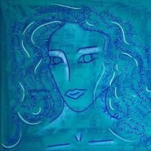 Marcia // Technique mixte sur carton toilé // 30 x 30 cm