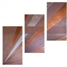 Parmes // Technique mixte et collage sur bois // 3 panneaux de 40 x 80 cm