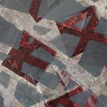 Strates // Technique mixte et collage sur bois // 32 x 51 cm