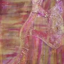 Dialogue 2 // Technique mixte et collage sur bois // 50 x 60 cm