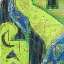 Dialogue 6 // Technique mixte et collage sur bois // 50 x 60 cm