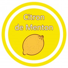 Conception graphique de l'étiquette du parfum Citron des biscuits Saint Louis de Lafitau