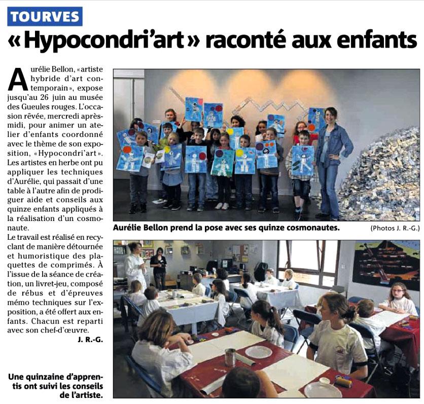 Actualités // Hypocondri'art raconté aux enfants // © Aurélie Bellon