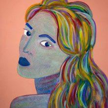 Amazones 03 // Acrylique sur carton bois // 50 x 70 cm