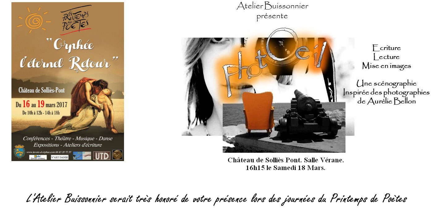 Atelier Buissonnier pour le Printemps des poètes château de Sollies-Pont