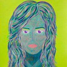 Amazones 17 // Acrylique sur carton bois // 50 x 70 cm