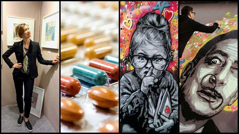 Affiche Expo Art Hybride & Street Art // © Aurélie Bellon