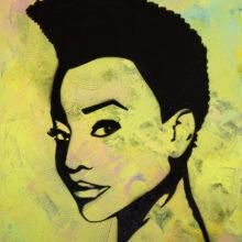 Melissa // Technique mixte sur toile // 54 x 73 cm