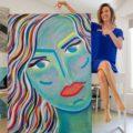 Allegra // Technique mixte sur toile // 100 x 146 cm
