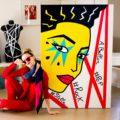 Pop Stella // Technique mixte sur toile // 100 x 146 cm